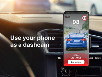 Dashcam driver safety app design dashcam ux ui graphic design driving car automotive application