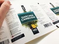 Garcinia Cambogia Label Sample
