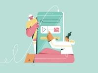 Favourite podcast app flat vector vector art line art vector branding colourful character illustration adobe illustrator character vector illustration illustration character design