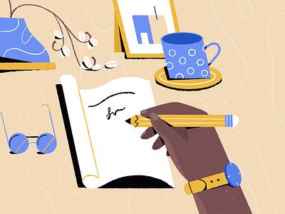 Set up- work desk illustrator character freelance illustrator commercial art editorial illustration adobe illustrator colourful character illustration procreate vector illustration illustration character design