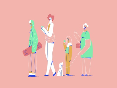Bus Queue - Character exploration explainer video character animation passangers adobe illustrator character illustration vector illustration illustration character character design