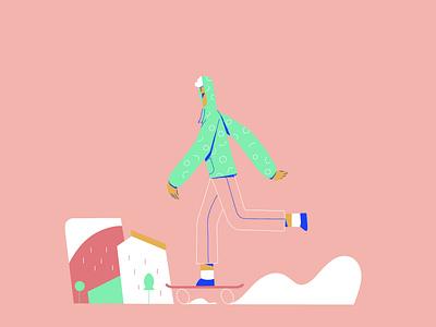 skater guy ux branding vector ui adobe illustrator character illustration vector illustration procreate illustration character design