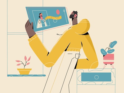 NHS - explainer video style frame proposal freelance illustrator illustration pharmacy medical illustration character design