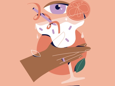 Happy hour poster illustration poster ui branding procreate art illustration vector illustration procreate character character design