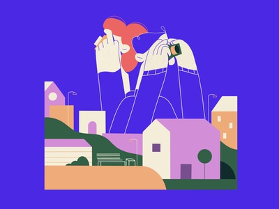 Capturing moments at night 📸 explainer video examples freelancer freelance illustrator illustrator colourful character illustration frame explainer video character adobe illustrator procreate illustration vector illustration character design