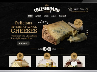 The Cheeseboard HomePage by ImpressionDP