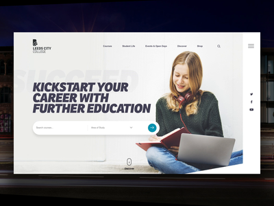 Leeds City College Home Page Concept