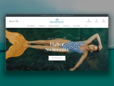 Concept For A Swimwear Brand principle app principle concept ux design ui design ecommerce design hero banner hero image swimwear home page website ecommerce web design
