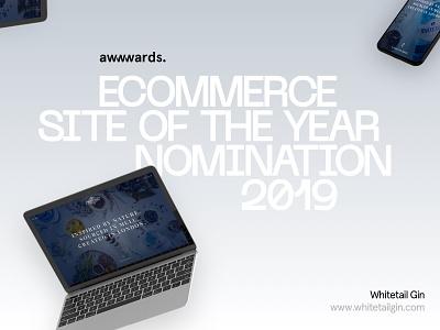 Awwwards Nomination - Ecommerce Site Of The Year food and drink alchohol wordpress webgl hero design home page award winning award ecommerce web design awwwards