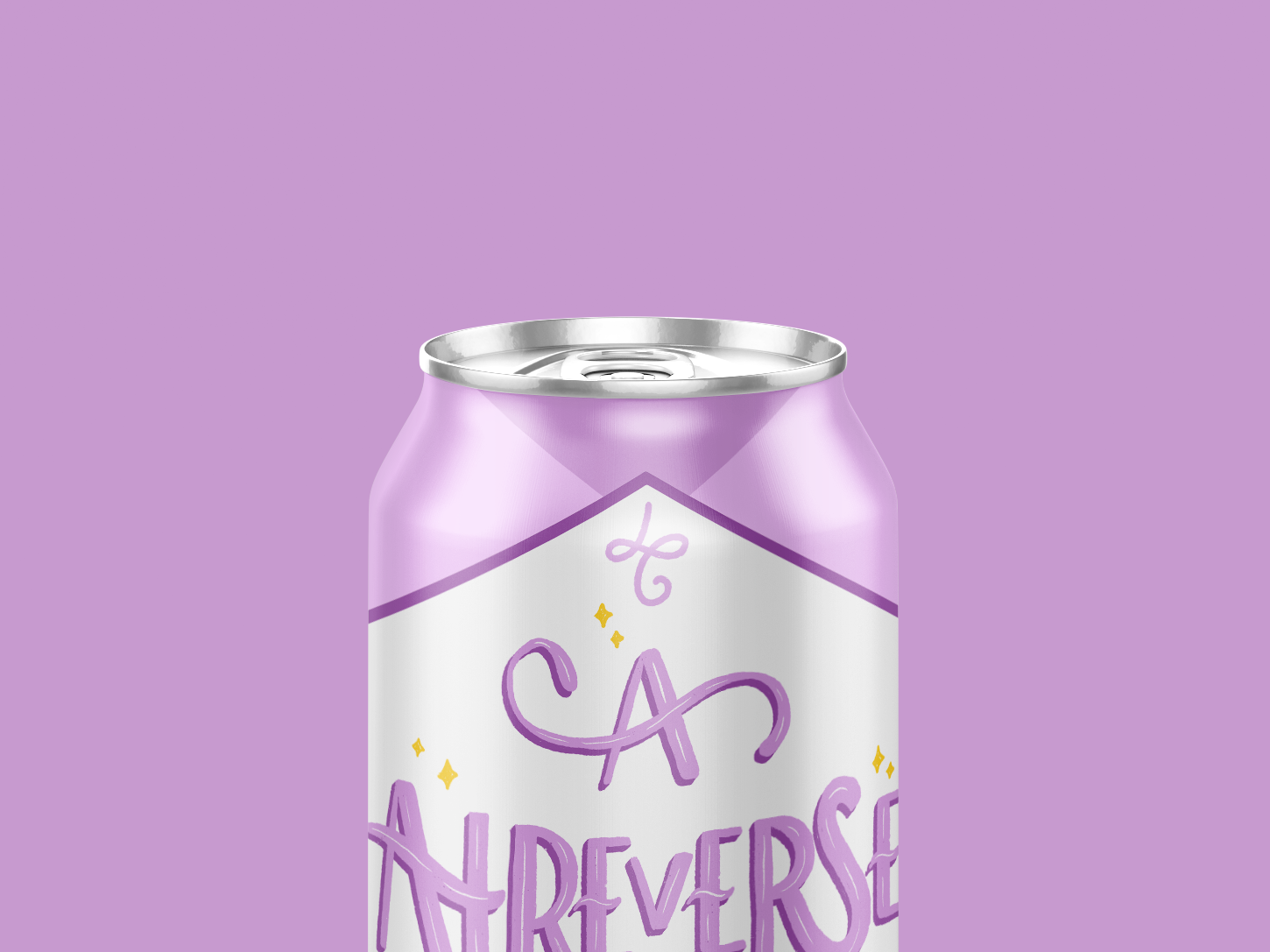 A Atreverse Can - Lettering courage graphic design calligraphy drink can mockup design lettering