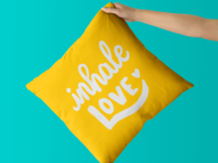 Inhale Love - Lettering Cushion