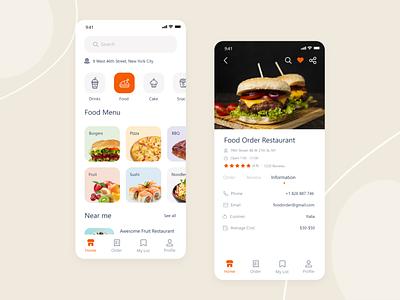Food delivery - Mobile App adobe xd food delivery app ui design app design mpbile app app