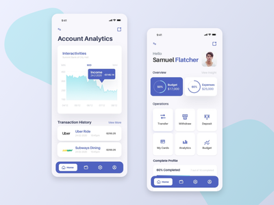 Wallet app ui app app design mobile ui money app mobile money tracker banking
