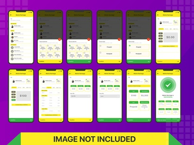 Mobile Recharge App UI kit Design