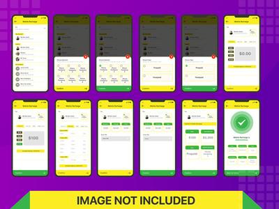 Mobile Recharge App UI kit Design