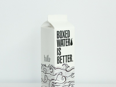 boxed water is better flat branding typography minimal design