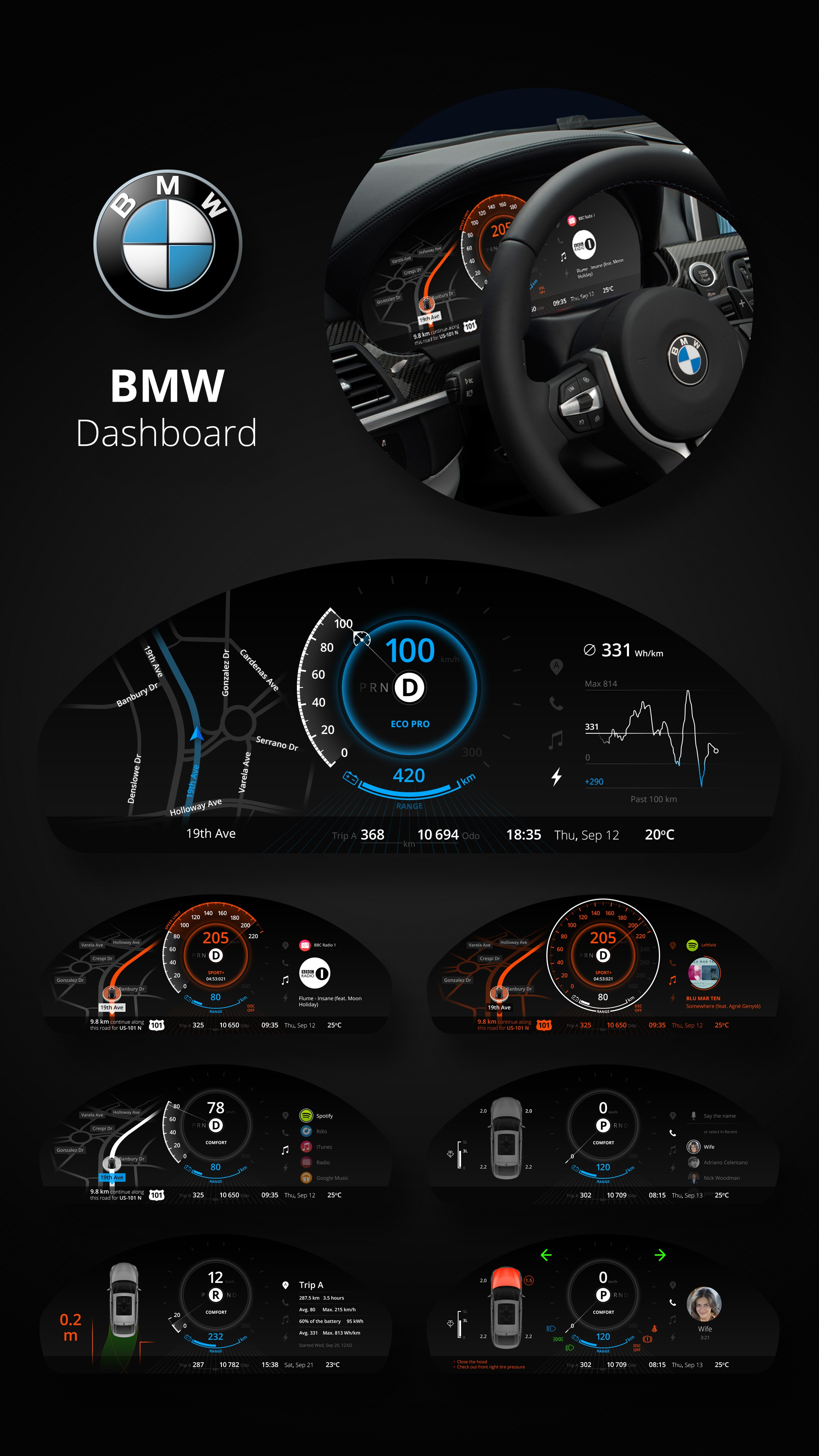 denys nevozhai projects bmw car dashboard design dribbble. Black Bedroom Furniture Sets. Home Design Ideas