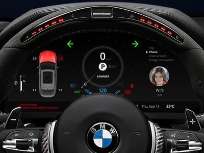 BMW Car Dashboard Warning Lights Calling Wife By Denys - Warning signs on bmw dashboard