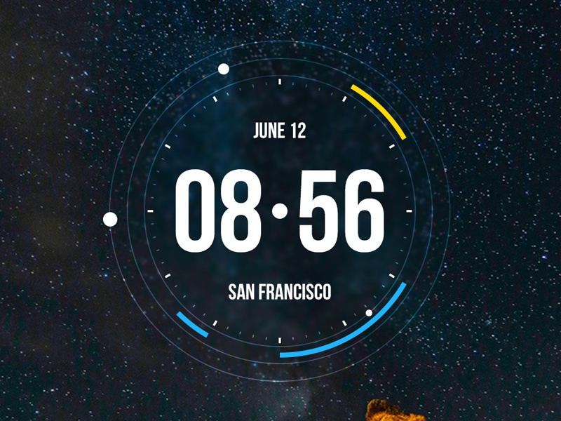 Time Widget for Android 2 time widget android launcher planets