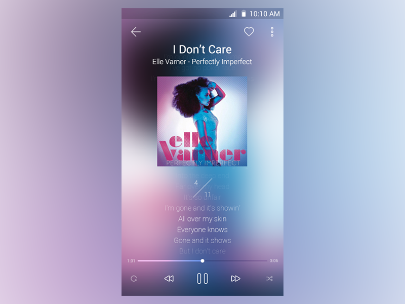 Music Player music music player player android blur