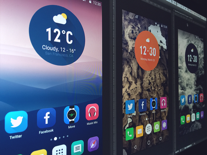Continue experimenting with Alcatel launcher by Denys Nevozhai for