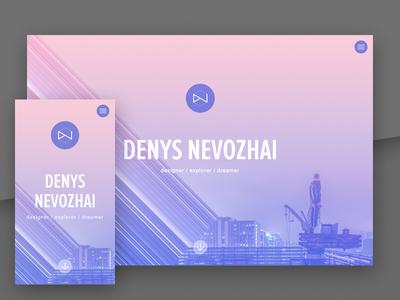 dnevozhai.com - Personal web site personal site portfolio responsive purple web site web design web