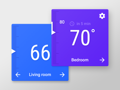 Thermostat Widget for Android L/M nest thermostat flat clean app mobile android m android l material design material android widget