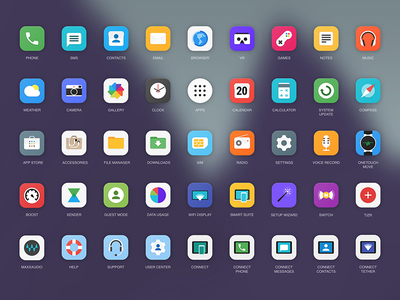Icons set for Alcatel Onetouch phones lollipop home screen launcher icon set alcatel google android material icons