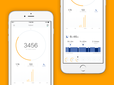 Amazfit iOS App white flat tracker amazfit fitness sleep activity iphone mobile app ios