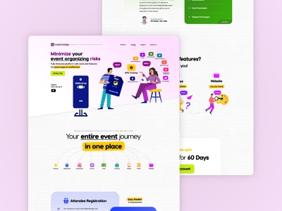 SaaS for an Event Management Tool saas landing page project management tool event management