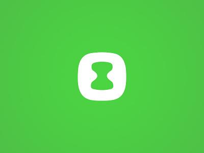 SaaS Timesheet Tracking startup brand logo software app tracking hourglass timesheet saas