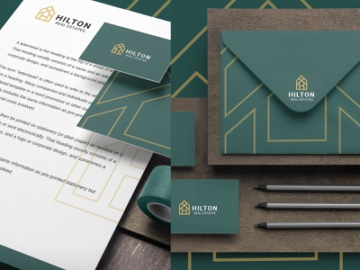 Hilton Real States Brand Identity real estate logo houses real estate luxury branding brand identity logodesign elegant classy luxury