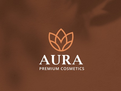 Aura Cosmetics Logo Identity minimal cosmetics luxury branding luxury logo modern elegant beauty skincare brand identity branding logo identity logodesign