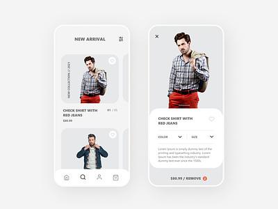 Shopping App UI Concept elegant ui  ux design mobile app minimal modern ui shopping app ui app ui ui ux