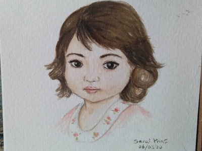 Dulzura portrait art retrato niña acuarelas watercolor painting watercolour design dibujos watercolors watercolor art acuarela watercolor cuteness art artist illustration artwork