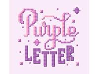 Purple letter