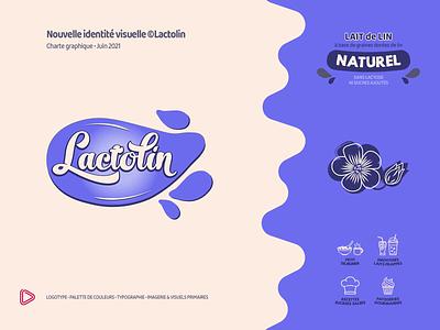 Brand Identity | New logo ©Lactolin brand identity print logo color palette product design illustration branding