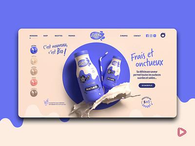 3D Web Design | Lactolin Storytelling storytelling instagram templates web design product design ux ui branding 3d