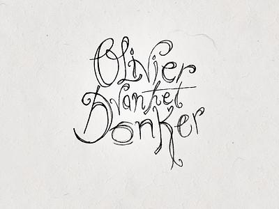 Olivier van het Donker hand drawn logo sketch