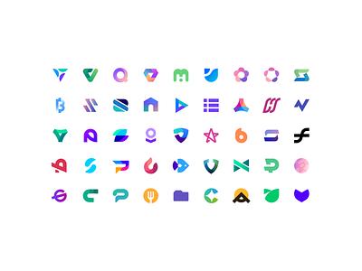 Logos 2020 icons logoset vectorii color branding logos logodesign logo