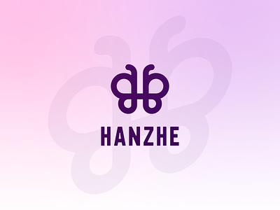 Hanzhe branding h logo butterfly logo