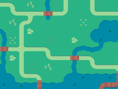 tileset bridges amber studios bushes lilypad water paths grass vector tile tileset slimey the slime