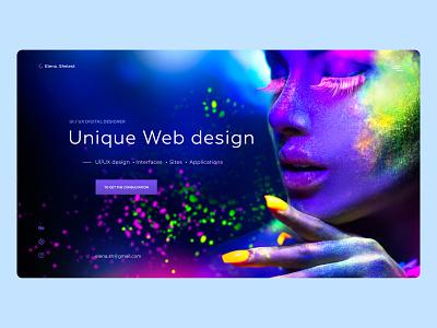 Portfolio website for web designer creative ui website minimal web typography ux design