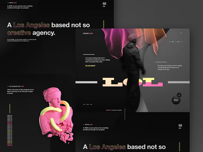 lolololol creatives - Agency landing page design website design web design website ui design agency creative studio landing page film studio branding