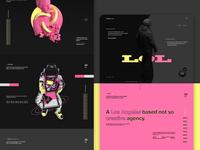 lolololol creatives - Creative agency landing page design website design web design website ui design agency creative studio landing page film studio branding