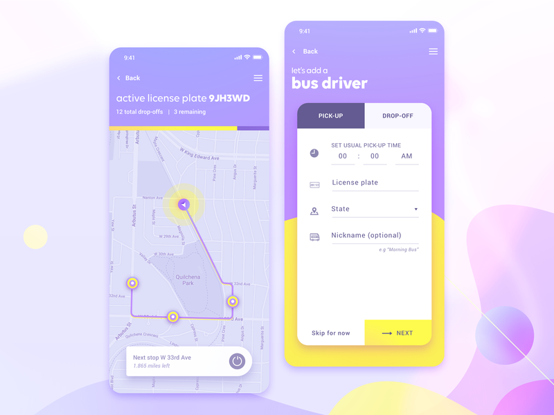 BusStop - iOS App for School Transportation
