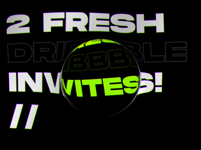 2 Fresh Dribbble Invites dribbble invite font promo video invite typography interaction animation