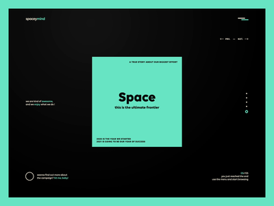 spaceymind - website design landing page after effects agency video space website web design web typography interaction font animation