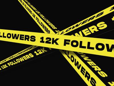 12k followers - THANKS! milestone kinetic video promo interaction typography font animation