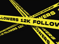 12k followers - THANKS! milestone kinetic video promo interaction typography font animation